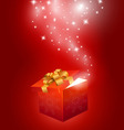 Red gift box abstract background