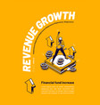 revenue growth financial fund increase poster vector image