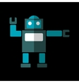 Robot flat icon vector image vector image