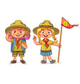 scout boy and scout girl vector image