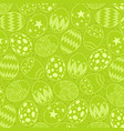 seamless pattern on green easter egg background vector image vector image