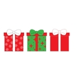 set icons gift boxes vector image