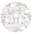 set with religious elements for easter vector image