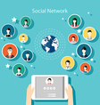 Social Network Concept Flat Design for Web vector image vector image