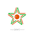 star with Niger flag colors symbol and grunge vector image vector image