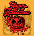 stylish color party poster for happy halloween vector image