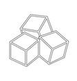 sugar cubes icon vector image
