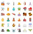 sword icons set cartoon style vector image vector image