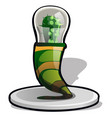 table lamp in the style of a mexican cactus vector image vector image
