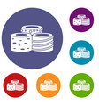 tasty turkish delight icons set vector image vector image
