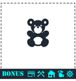 Teddy Bear icon flat vector image