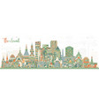 thailand city skyline with color buildings vector image vector image