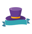 top hat with ribbon vector image vector image
