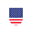 united states flag shield vector image vector image