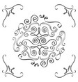 vintage element and page decoration ornate scroll vector image