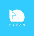 whale icon ocean logo design element marine life vector image