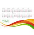 year 2020 calendar design template vector image