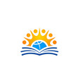 education book college group logo vector image