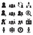 user businessman avatar icons set vector image