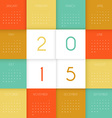 Calendar for 2015 year vector image