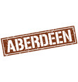 aberdeen brown square stamp vector image vector image