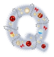 Abstract beauty Christmas and New Year abc vector image vector image