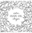 abstract olive oil vintage template vector image vector image