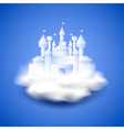 Air castle on blue background vector image vector image