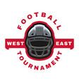 american football sport logo emblem vector image vector image
