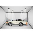 An elegant sports car at the garage vector image vector image