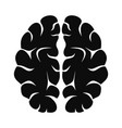 artificial brain icon simple style vector image