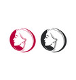 beauty shop salon barbershop logo portrait of vector image vector image