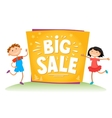 Big sale poster for school theme vector image