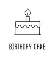 birthday cake line icon party elements vector image