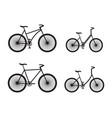 black silhouettes of bicycles vector image vector image