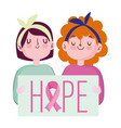 breast cancer awareness month two young women vector image vector image