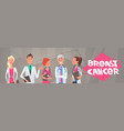breast cancer group of doctors on disease vector image