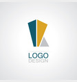 building abstract logo vector image