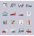 Car Dealership Icon Set vector image vector image