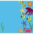 card with sea animals vector image vector image