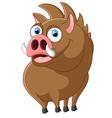 Cartoon strong wild boar vector image
