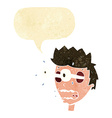 cartoon surprised man with eyes popping out with vector image vector image