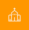 church icon linear pictograph vector image vector image