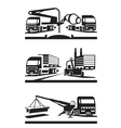 Construction and lifting transportation vector image vector image