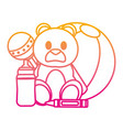 degraded line cute babe toys things design vector image