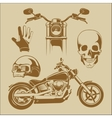 elements for biker labels vector image vector image