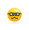 emoji smile icon symbol old glasses smiley face vector image