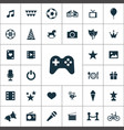 entertainment icons universal set for web and ui vector image