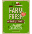farm fresh color vector image vector image