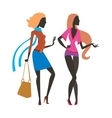 Fashion girls cartoon people isolated on white vector image vector image